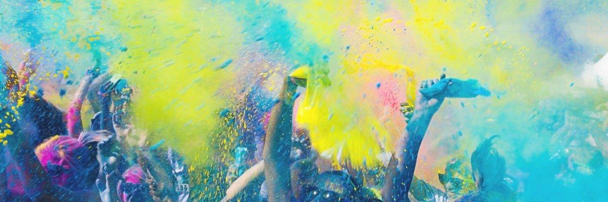 Spiaggia di Igea Marina una corsa di colore – Color Vibe