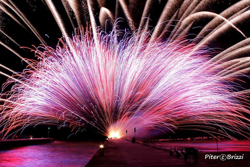 I fuochi d'artificio della Notte Rosa